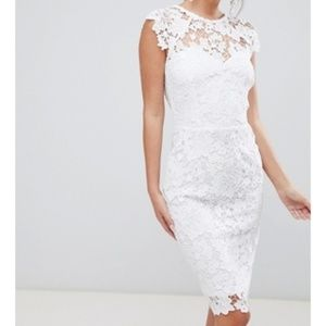 Paper Dolls Midi Lace Dress With Scallop Back